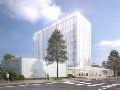 El proyecto del nuevo museo de LVMH en París.