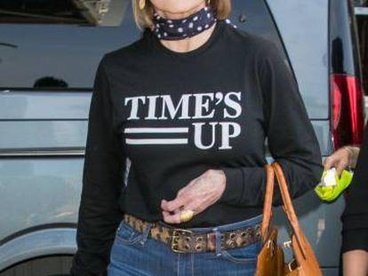 Jane Fonda, a su llegada al aeropuerto de Niza para asistir al Festival de Cannes.