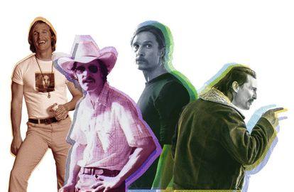 Matthew McConaughey en 'Movida del 76', 'Dallas Buyers Club', 'True Detective' y 'White Boy Rick', que se acaba de estrenar.