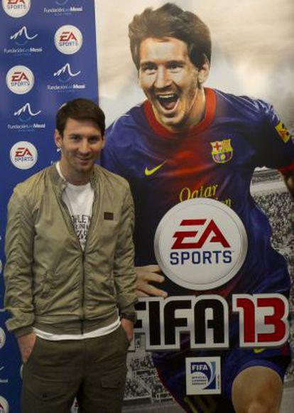 Messi en la presentación del videojuego.