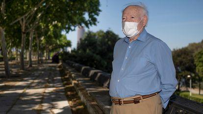 Joaquín Villalba, de 89 años, este sábado en Sevilla.