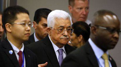 Mahmoud Abbas en la ONU, el 28 de septiembre de 2015.