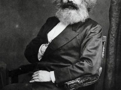 El filósofo y político Karl Marx (Tréveris, 1818-Londres, 1883).