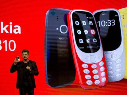 Presentación del Nokia 3310 en el Mobile World Congress de Barcelona.