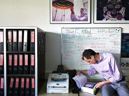 Pedro Duque, en las instalaciones de la Agencia Espacial Europea en Madrid.