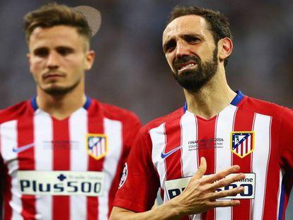 Juanfran se lamenta tras la final.