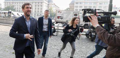 Toní Comín, a mediados de mayo en Bruselas.