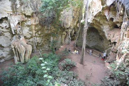 Vista general del yacimiento de Panga ya Saidi, en Kenia.