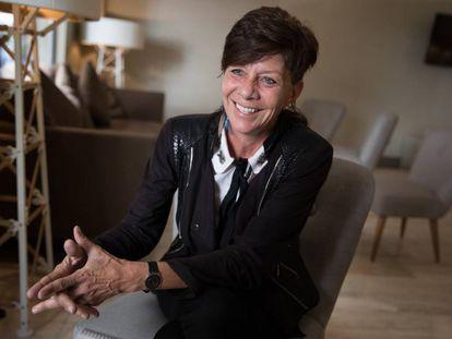 La bióloga sudafricana Jill Farrant, durante la entrevista, en Madrid.