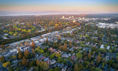 Ciudad de Menlo Park, una de las que compone Silicon Valley. En ella se ubica la sede de Facebook.