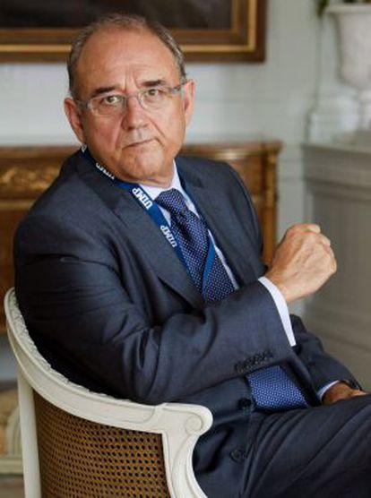 El presidente del Consejo General de Colegios Oficiales de Médicos de España, Juan José Rodriguez Sendín.