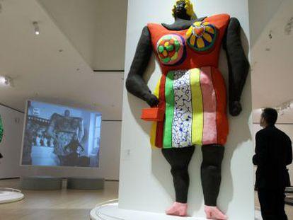 Una de las salas del Guggenheim dedicada a la exposición de Niki de Saint Phalle.