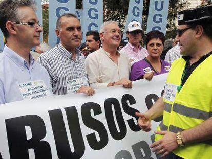Guardias civiles se manifiestan en Madrid en 2010.