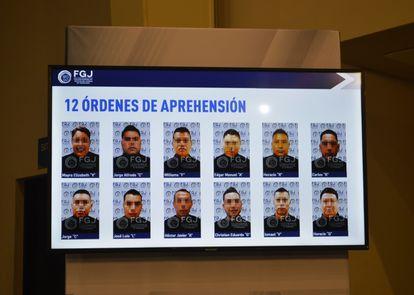 La Fiscalía del Estado de Tamaulipas presentó una imagen de los 12 presuntos implicados en el homicidio de 19 personas la semana pasada semana.