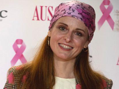 La diseñadora Ana Locking durante la presentación de la campaña de Ausonia 'Dedícate 1 minuto' contra el cáncer de mama, en Madrid (España), a 15 de octubre de 2020. AUSONIA;CÁNCER DE MAMA;FAMOSAS;CANTANTES José Oliva / Europa Press 15/10/2020