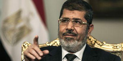 El presidente egipcio, Mohamed Morsi, el pasado 6 de mayo en El Cairo.