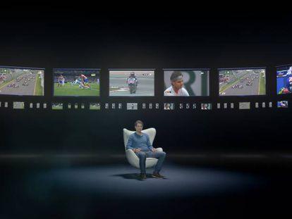El tenista Rafa Nadal, en la presentación de la plataforma de televisión de Movistar.