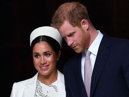 Enrique de Inglaterra y Meghan Markle, en una imagen de 2019 en Londres.