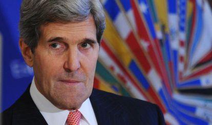 El secretario de Estado, John Kerry, en la sede de la OEA.