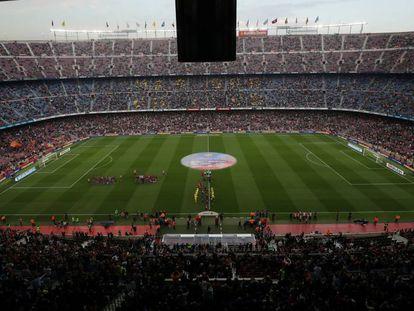 Imagen del Camp Nou en el duelo Barça-Villarreal.