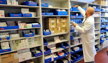 El almacén de una farmacia en Francia.