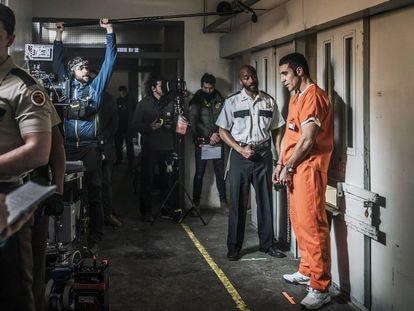 Un momento de la serie 'El corredor de la muerte' en Movistar +.