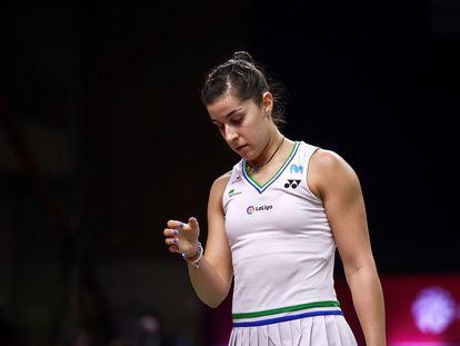 Carolina Marín, en el abierto de Tailandia a finales de enero.