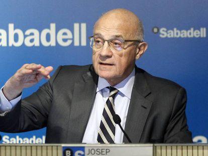 Josep Oliu, presidente de Sabadell, en una imagen de archivo.