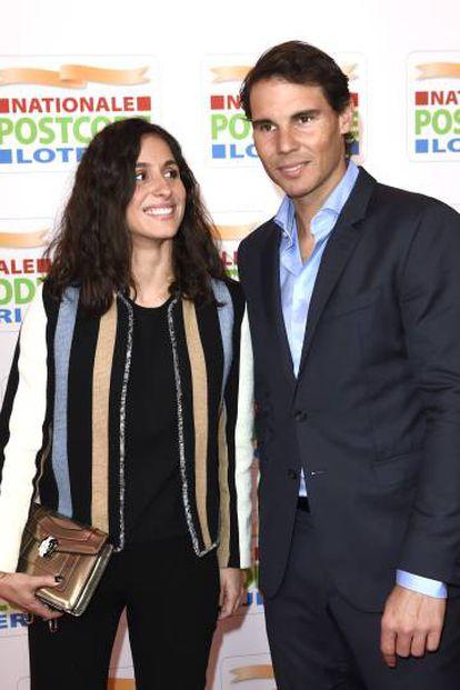 Nadal, con su novia María Francisca Perelló.