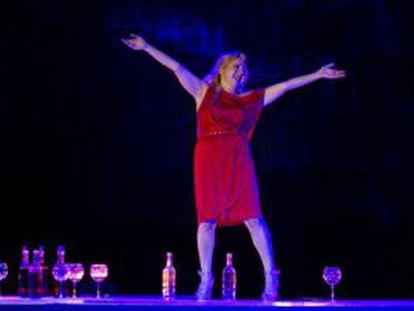 """Carmen Machi en una escena de la obra """"Juicio a una zorra"""""""