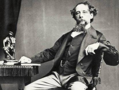 Retrato del novelista británico Charles Dickens.