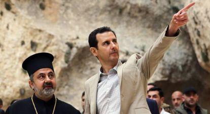 Bachar el Asad visita la ciudad cristiana de Malula, tomada por el Ejército