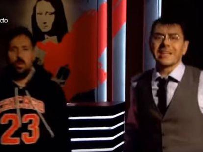 Chuty y Monedero entonan el rap del Pequeño Nicolás.