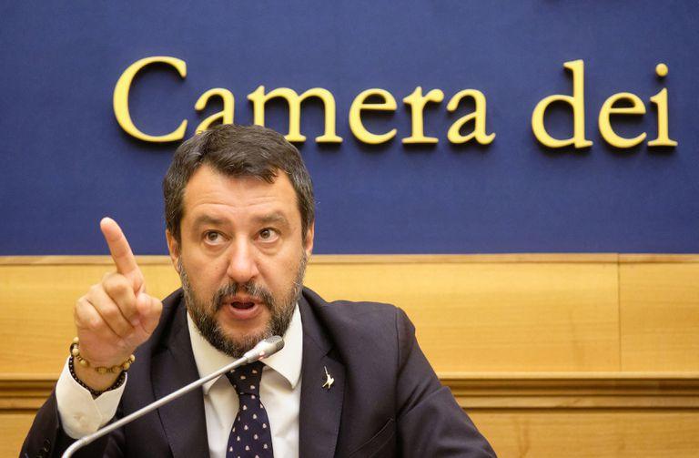 Matteo Salvini, líder de La Liga, en una rueda de prensa el pasado martes, en Roma.