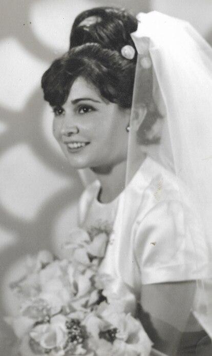 Ana María Chavarino el día de su boda, en 1967.