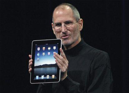 Steve Jobs, durante la presentación del iPad de Apple en enero pasado en San Francisco.