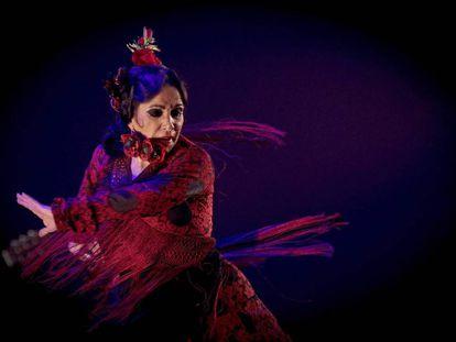 La bailaora Eva Yerbabuena en su actuación en Pamplona.