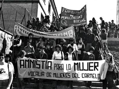 Manifestación feminista en Barcelona, en 1976.