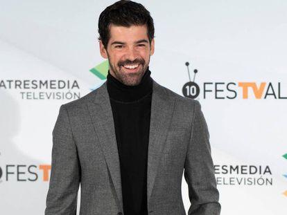 Miguel Angel Muñoz, durante la presentación de la serie en el FesTVal de Vitoria-Gasteiz.