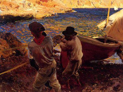 'Fin de jornada' (1900), el óleo pintado en Jávea por Joaquín Sorolla que la familia desea vender.