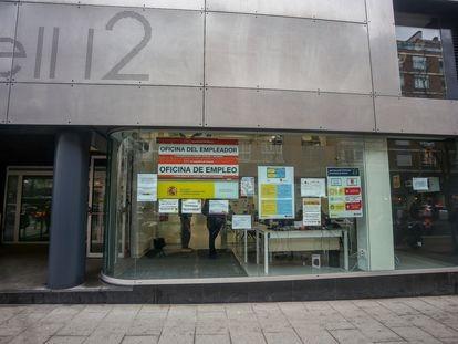 Oficina de Empleo ubicada en Madrid.