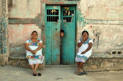 """Descendientes de los rebeldes mayas """"Cruzoob""""  en el poblado de Felipe Carrillo Puerto, Quintana Roo."""