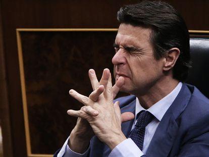 El ministro Soria este jueves en el Congreso.