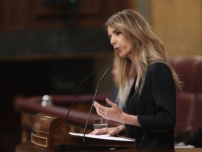La portavoz del Grupo Popular en el Congreso, Cayetana Álvarez de Toledo, en el pleno del pasado miércoles.