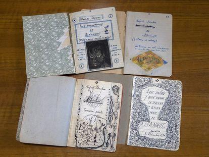 Cuadernos de Rafael Sánchez Ferlosio de su novela 'Industrias y andanzas de Alfanhuí'.
