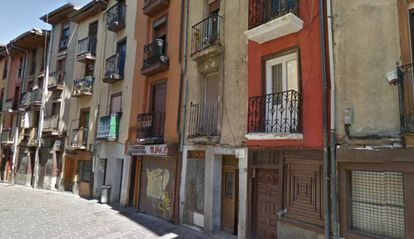 Imagen de la calle Santo Domingo de Vitoria tomada de Google Maps.