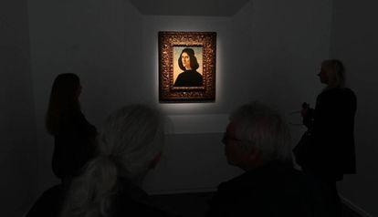 El retrato de Botticelli en Londres, en 2019, cuando salió a la venta en la Frieze Masters.