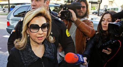 Maria Antònia Munar llega a los juzgados de Palma en 2010.
