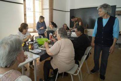 Actividad en un centro cultural de Barrancos.