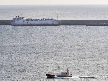 El buque Karim Allah, este jueves en Cartagena.